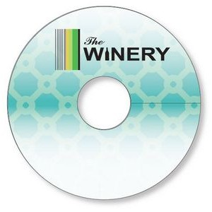 "Wine Glass Tag .010 White PVC Plastic 2.7"" circle Full colour & write-on wip"